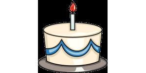 A first birthday cake