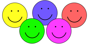Five Smiley Faces